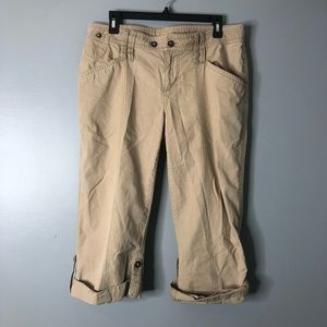 The North Face Khaki Cropped Pants Large